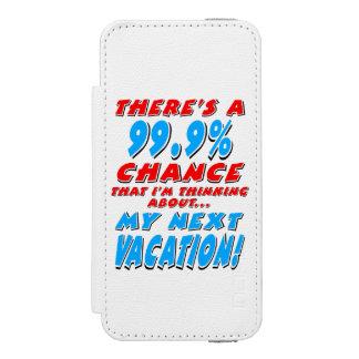 99.9% NEXT VACATION (blk) Incipio Watson™ iPhone 5 Wallet Case