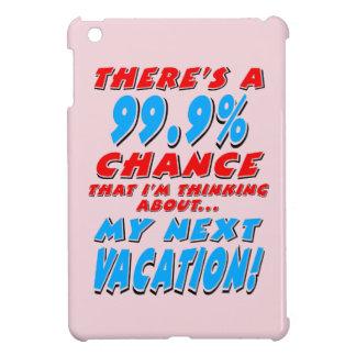99.9% NEXT VACATION (blk) iPad Mini Cover