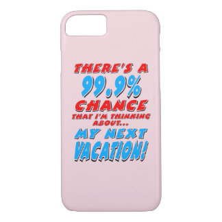 99.9% NEXT VACATION (blk) iPhone 8/7 Case