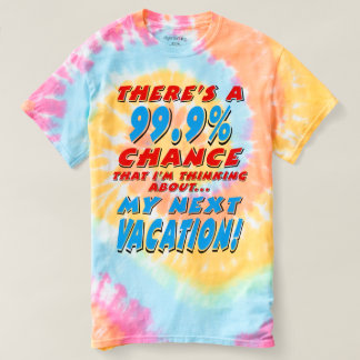 99.9% NEXT VACATION (blk) T-shirt
