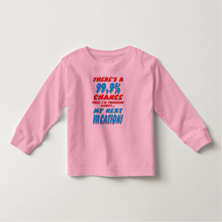 99.9% NEXT VACATION (blk) Toddler T-shirt