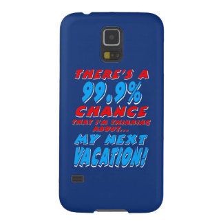 99.9% NEXT VACATION (wht) Case For Galaxy S5