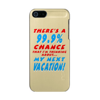 99.9% NEXT VACATION (wht) Incipio Feather® Shine iPhone 5 Case