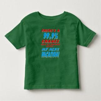 99.9% NEXT VACATION (wht) Toddler T-shirt