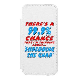 99.9% SHREDDING THE GNAR (blk) Incipio Watson™ iPhone 5 Wallet Case