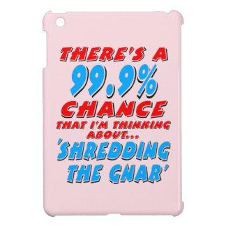 99.9% SHREDDING THE GNAR (blk) iPad Mini Cover
