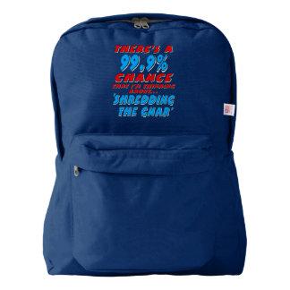 99.9% SHREDDING THE GNAR (wht) Backpack
