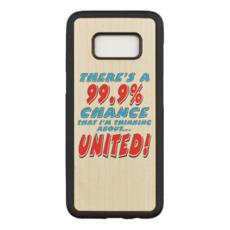 99.9% UNITED (blk) Carved Samsung Galaxy S8 Case
