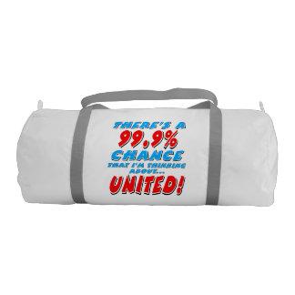 99.9% UNITED (blk) Gym Bag