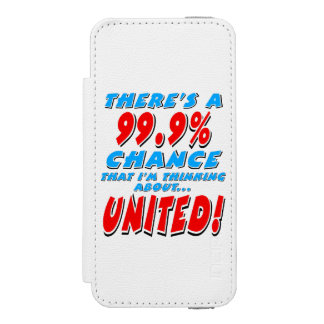 99.9% UNITED (blk) Incipio Watson™ iPhone 5 Wallet Case