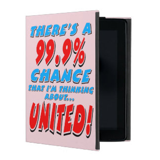 99.9% UNITED (blk) iPad Cover
