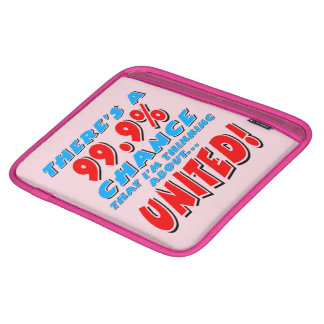 99.9% UNITED (blk) iPad Sleeve