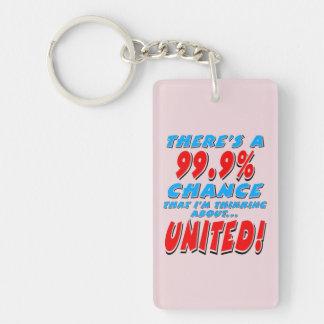 99.9% UNITED (blk) Keychain