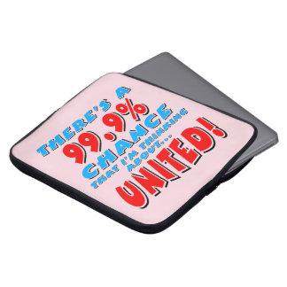 99.9% UNITED (blk) Laptop Sleeve