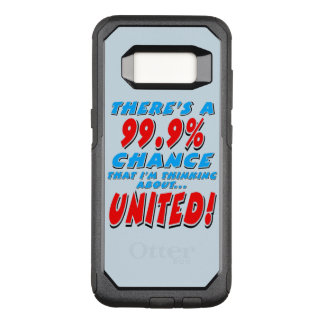 99.9% UNITED (blk) OtterBox Commuter Samsung Galaxy S8 Case
