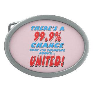 99.9% UNITED (blk) Oval Belt Buckle