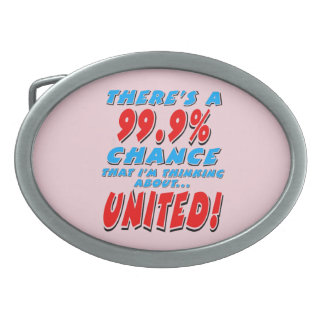 99.9% UNITED (blk) Oval Belt Buckles
