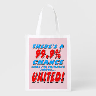 99.9% UNITED (blk) Reusable Grocery Bag