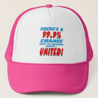 99.9% UNITED (blk) Trucker Hat