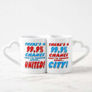 99.9% UNITED & CITY (blk) Coffee Mug Set