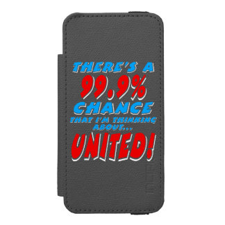 99.9% UNITED (wht) Incipio Watson™ iPhone 5 Wallet Case