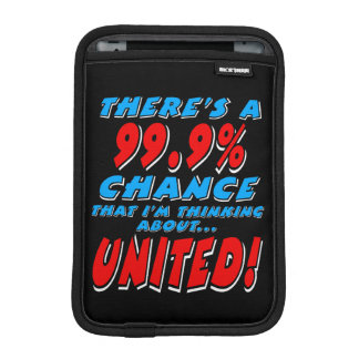 99.9% UNITED (wht) iPad Mini Sleeve