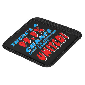 99.9% UNITED (wht) iPad Sleeve