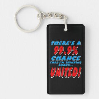99.9% UNITED (wht) Keychain