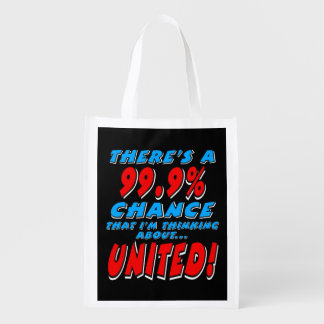 99.9% UNITED (wht) Reusable Grocery Bag