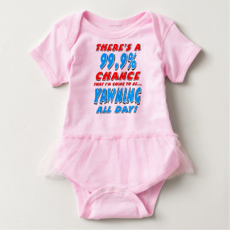 99.9% YAWNING ALL DAY (blk) Baby Bodysuit