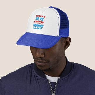 99.9% YAWNING ALL DAY (blk) Trucker Hat