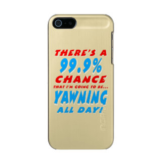 99.9% YAWNING ALL DAY (wht) Incipio Feather® Shine iPhone 5 Case