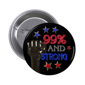 99 and Strong protest pinback button
