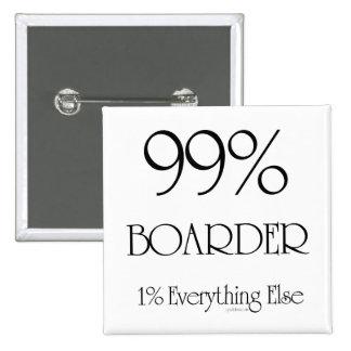 99% Boarder Pinback Button