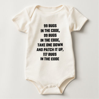 99 Bugs In The Code Baby Bodysuit