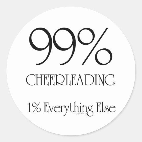 99% Cheerleading Classic Round Sticker