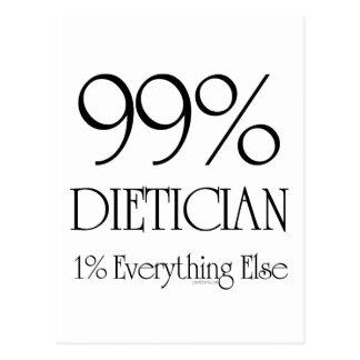 99% Dietician Postcard