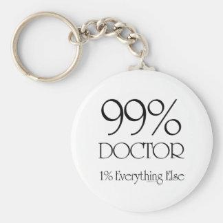 99% Doctor Basic Round Button Keychain