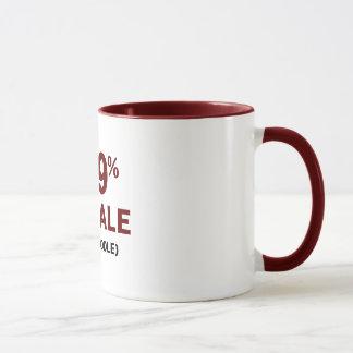99% Female 1% Poodle Mug
