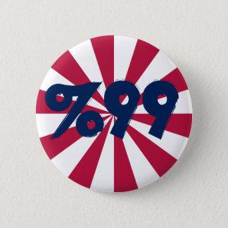 99% in Red, White and Blue Button