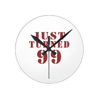 99 Just Turned Birthday Wall Clocks