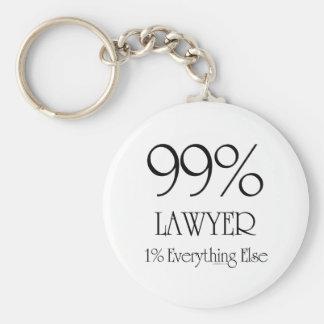 99% Lawyer Keychain