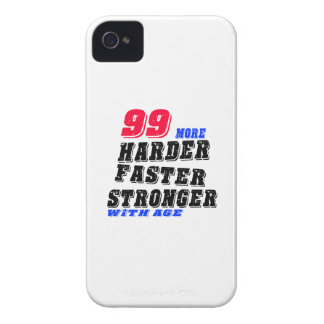 99 More Harder Faster Stronger With Age iPhone 4 Case-Mate Cases