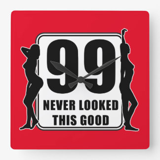 99 never looked this good square wall clock
