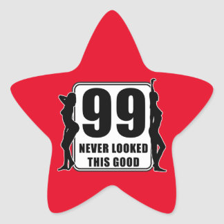 99 never looked this good star sticker