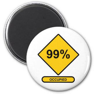 99% Occupied 2 Inch Round Magnet
