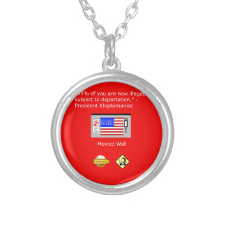 99% of Americans Silver Plated Necklace