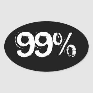 99% OVAL STICKER