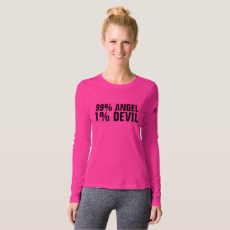 99 PERCENT ANGEL 1 PERCENT DEVIL Ladies T-shirts