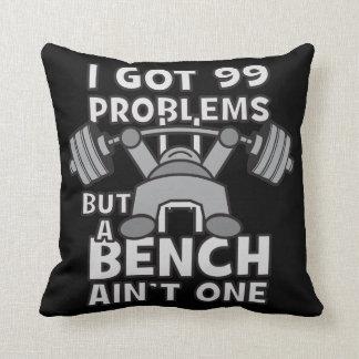 99 Problems But A Bench Ain't One - Kawaii Workout Throw Pillow